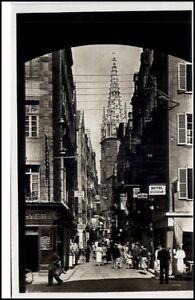 Saint-Malo-France-CPA-1940-AK-La-grande-rue-et-la-cathedrale-Hotel-Restaurant