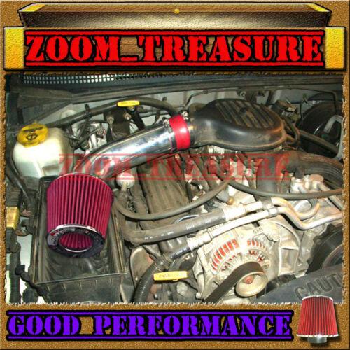 RED 1997-2003//97-03 DODGE DAKOTA//DURANGO 3.9L V6 5.2L 5.9L V8 AIR INTAKE KIT V2