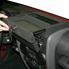 Tuffy Security Products Flip-N-Lock Stereo Cover & Tray 07-10 Jeep Wrangler JK