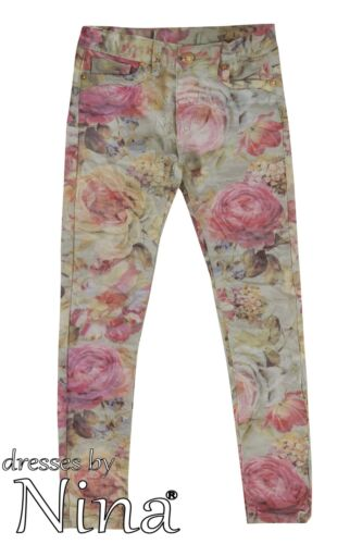 Girl Floral Print Trouser Pink Floral Print Jeans 3 to 13yr