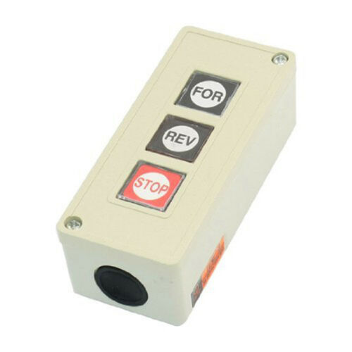Forward Reverse Stop Momentary Push Button Switch TPB/3, AC 250V, 3 Amp Y4K8