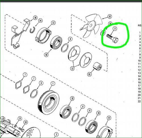 Case Ingersoll C18940 LH Left Hand Clutch Fan Bolt 222 444 Lawn /& Garden Tractor
