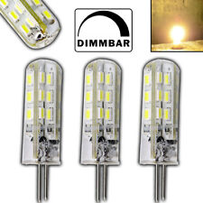 3x G4 LED 1,5 Watt Lampe DIMMBAR WARMWEIß 12V DC 24 SMD Spot Halogen Dimmer Set