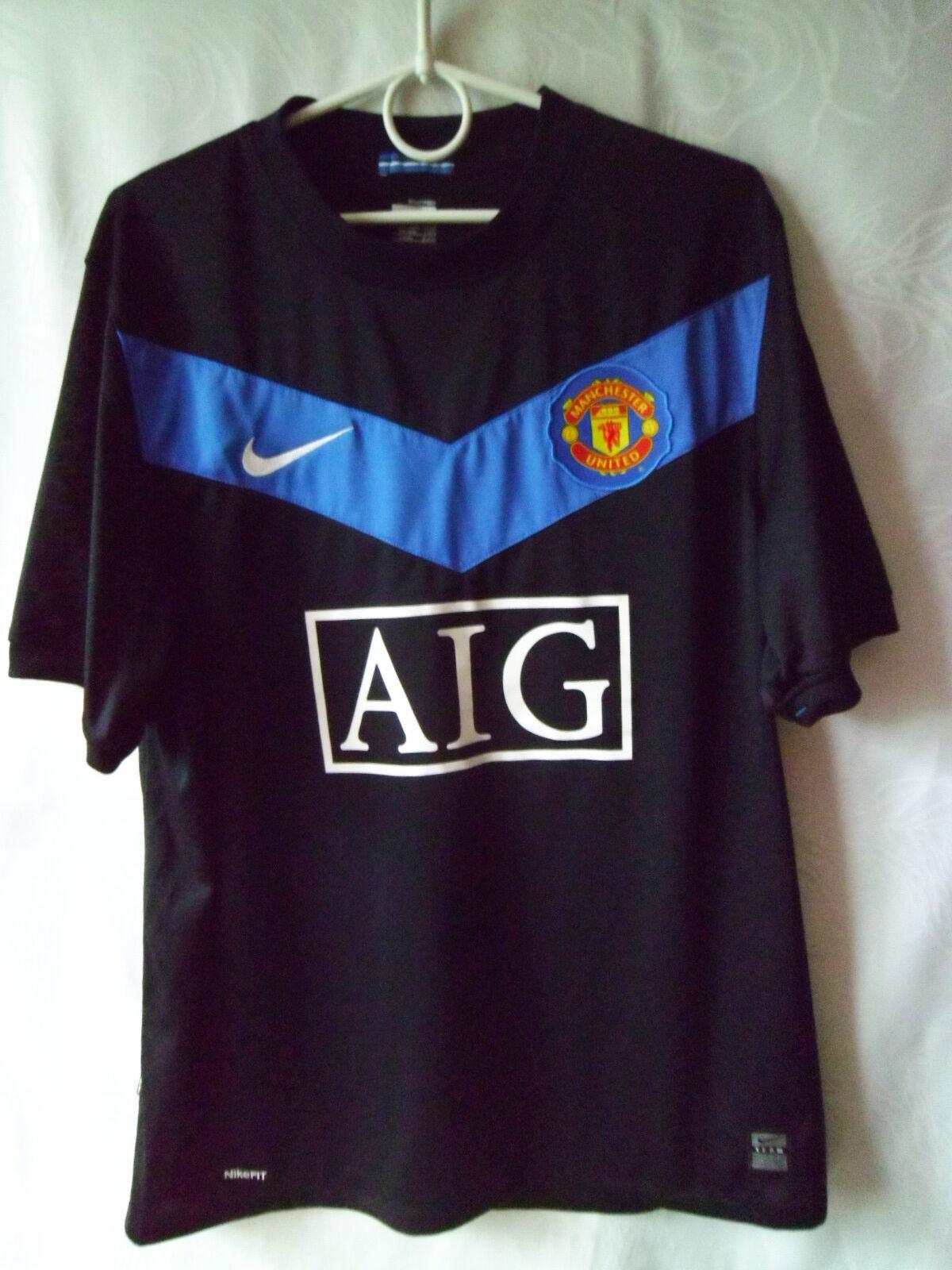 RARE    EXCELLENT     2009-10 Manchester United Away Shirt M