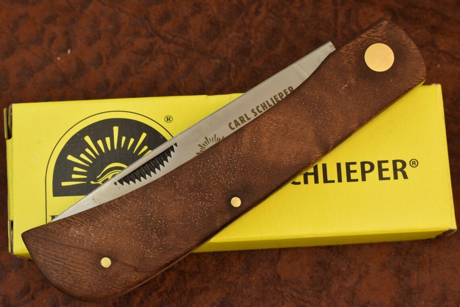 GERMAN EYE BRAND CARL SCHLIEPER JUMBO WOOD SODBUSTER KNIFE SOLINGEN GERMANY 9560