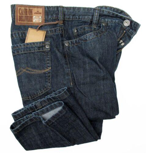 JOKER Jeans DIEGO 2242//25 dark blue rinsed aus kräftigem Denim