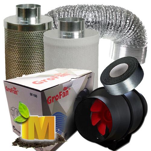 "Hydroponics Setup Magnetic Ballast Grow Tent 6/"" Ventilation Fan Grow Light Kit"