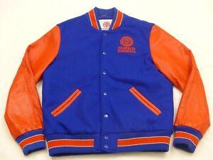 newest collection 02109 18cd7 Dettagli su Franklin Marshall Varsity College Rivestimento Baseball  Arancione Vintage Tg. :
