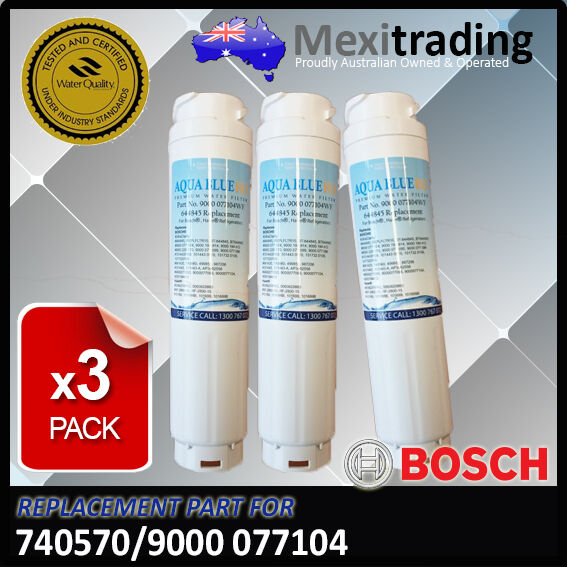 3 x 9000 077 104  Bosch Bosch Bosch  filter  alternative  model  for  KFN91PJ10A filter 0e52d6