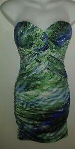 Beautiful-Body-Central-Hot-Mini-Stretchy-Bodycon-Dress-Size-small-New-mermaid