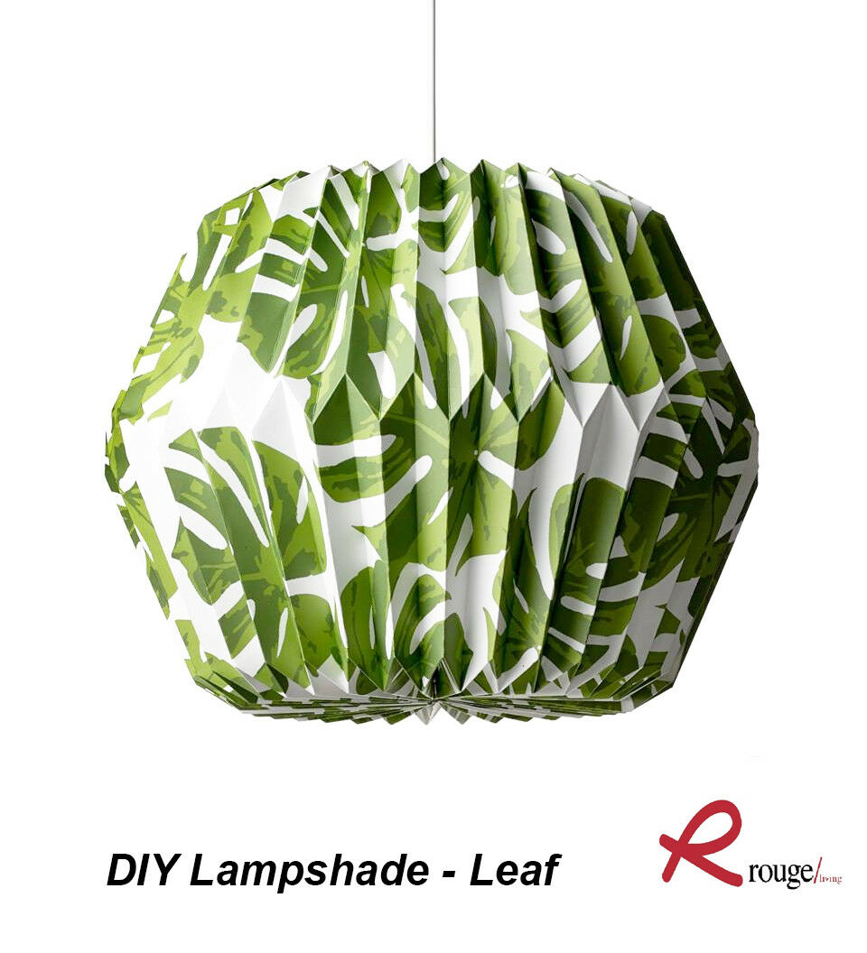 Bulk 12 X Concertina Diy Pendant Lamp Shades Monstera Leaf Pattern For Sale Online Ebay