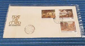 1976 Singapore First Day Cover Arts Series Commemorative Stamp Issue