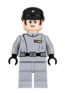 Lego Imperial Officer 75159 Light Bluish Gray Uniform Star Wars Minifigure
