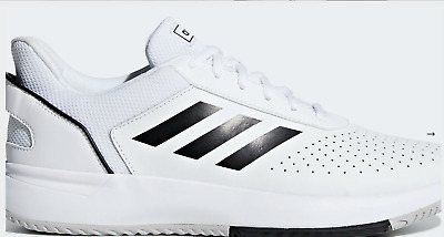New Adidas Mens Tennis Shoes Trainers Sneakers Sports White