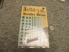 Armory Heraldry decals HB-4  for 5mm - 54mm - Heralds for metal miniatures K2