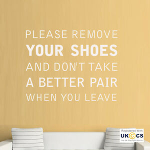 Remove Shoes Hall Better Pair Funny Quote Wall Art Stickers Decals - Custom vinyl wall decals uk how to remove