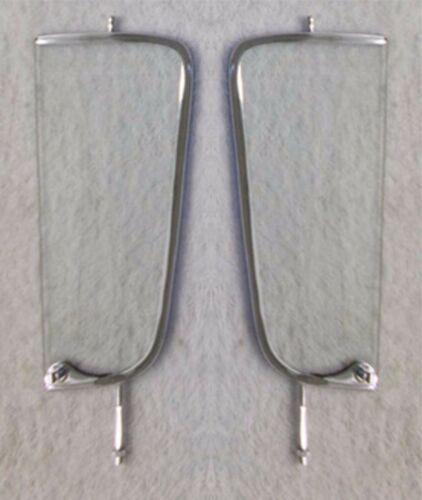 Clear Vent Glass Assembled Chrome Frame Pair Left Right 1955-1959 Chevy Pickup