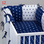 PILLOW-BUMPER-made-form-6-cushions-for-cot-bed-GREY-PINK-BLUE-NAVY-STARS thumbnail 13