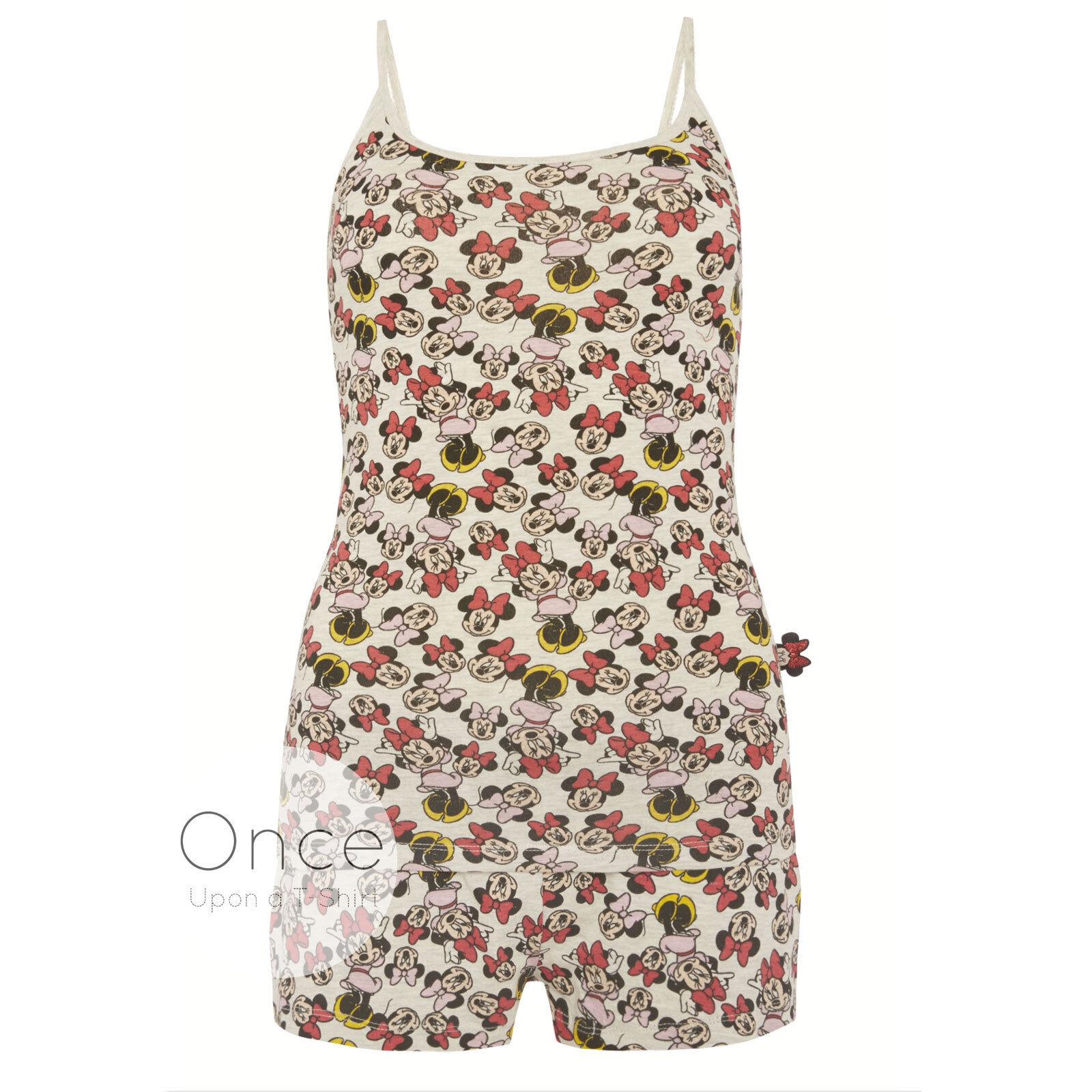 Primark ladies disney minnie mouse & débardeur & mouse short pyjamas pyjama sommeil set 1ab773
