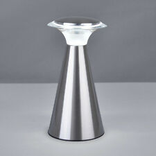 Modern Chrome Wireless / Cordless Battery LED Touch Bedside Table Lamp Lamps NEW