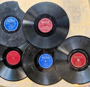 BLUES-78-LOT-5-SONNY-THOMPSON-records-on-KING-amp-MIRACLE-plus-50s-photo-reprint