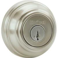 Kwikset Satin Nickel Single Cylinder Door Deadbolt 980 15 Smt Cp K4