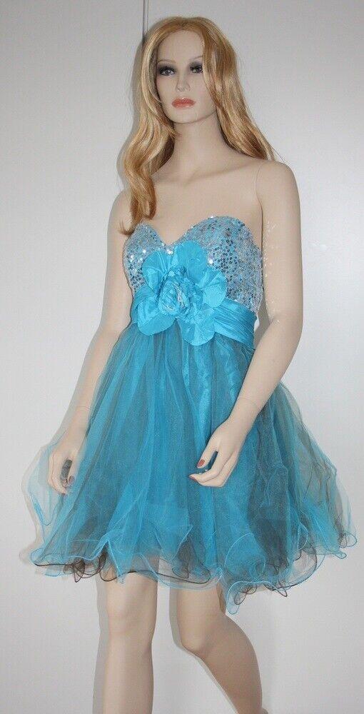 233204d1a959f Cocktailkleid Abendkleid Ballkleid Pailletten MAITE Gr. 36 38 NEU Modell  blau nueqkx4207-neue Kleidung