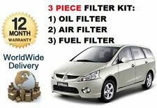 FOR MITSUBISHI GRANDIS 2.0 DT DiD 2005-12/2010  OIL AIR FUEL 3 FILTERS KIT