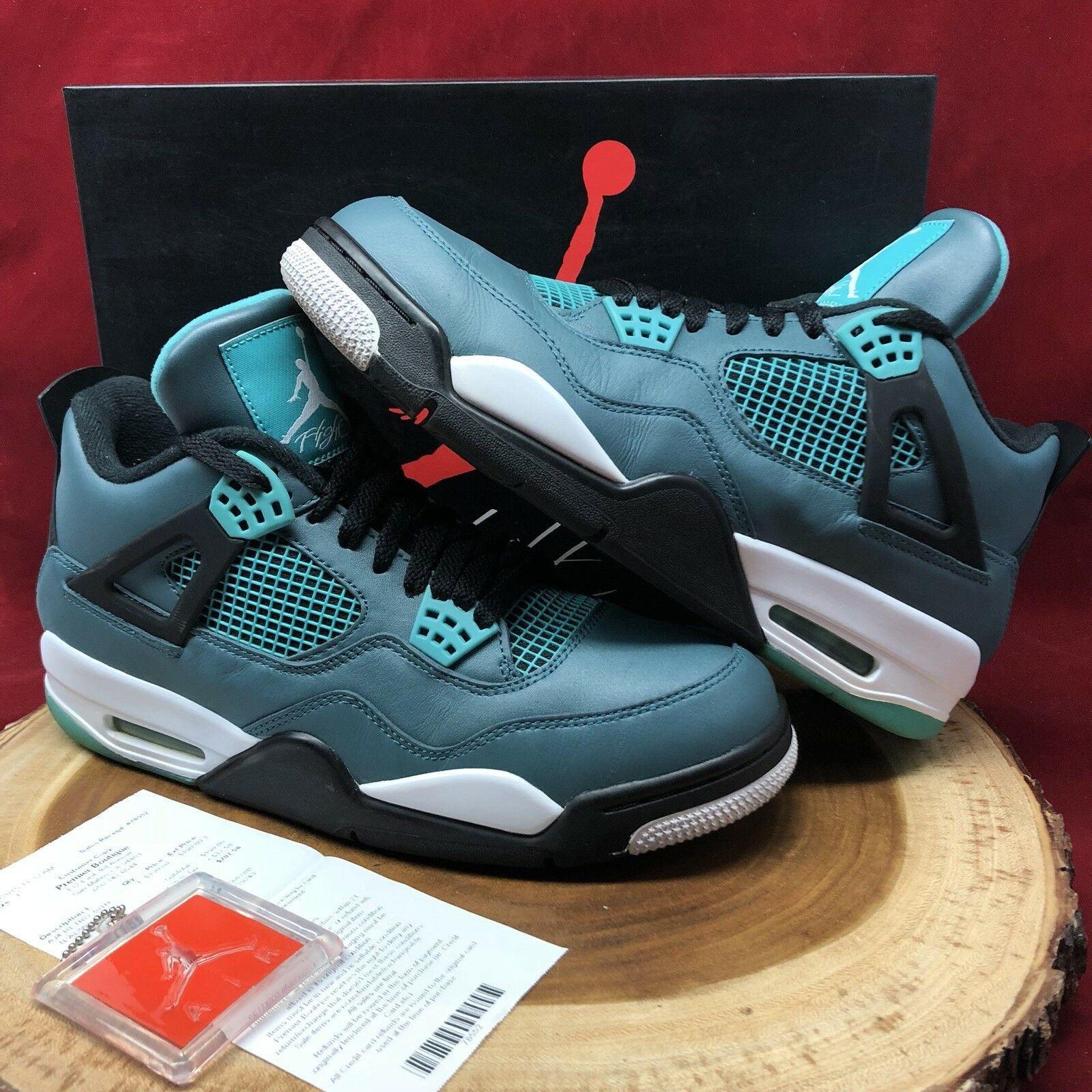 Nike Air Jordan Retro IV Teal Tropical Green Glow 30th Size 10.5 705331 330 Bred