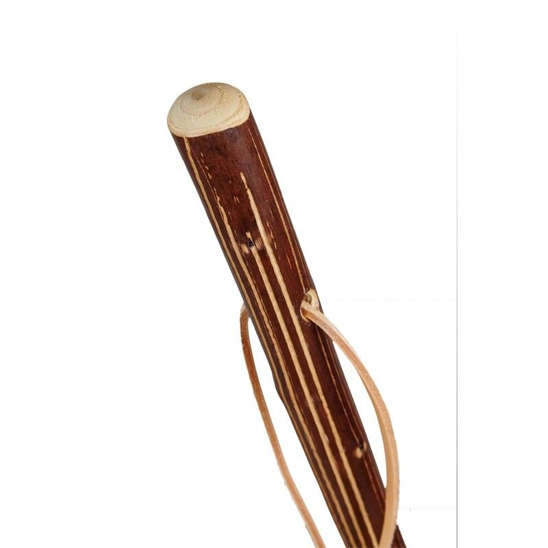 Bâton en en en bois gerieft Avec Cuir Boucle pèlerins étage bergers étage 2b399a
