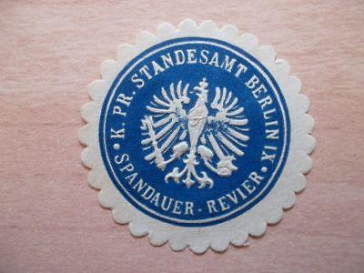 K Siegelmarke Pr Standesamt Berlin Ix Spandauer-revier Gutes Renommee Auf Der Ganzen Welt Sammlung Hier 12800