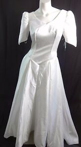 600-NWT-BRIDAL-ORIGINALS-WHITE-SATIN-WEDDING-DRESS-SIZE-10-BEAUTIFUL