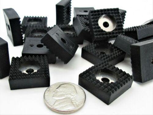 19mm Square Rubber Feet with Washer AV 8mm Height for Electronics Non-Skid