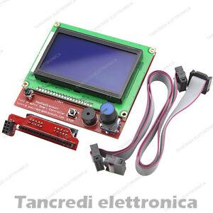 Display-128x64-Reprap-Mendel-Prusa-Ramps-LCD-Stampante-3D-Printer-CNC-SD-Reader