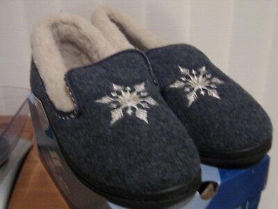Mirak Womens Ladies Slip On Comfy Soft Flexible Warm House Slippers Navy Blue