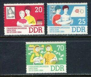 31394) DDR 1964 MNH** Congress of Women 3v. Scott# 703/05