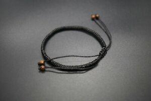 Tibetan Healing Bracelet Buddhist Black String Bracelet Tibetan Lucky Knots Rope