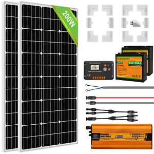 100W 150W 200W 300W solar panel kit 20A Battery charge Controller for Caravan RV