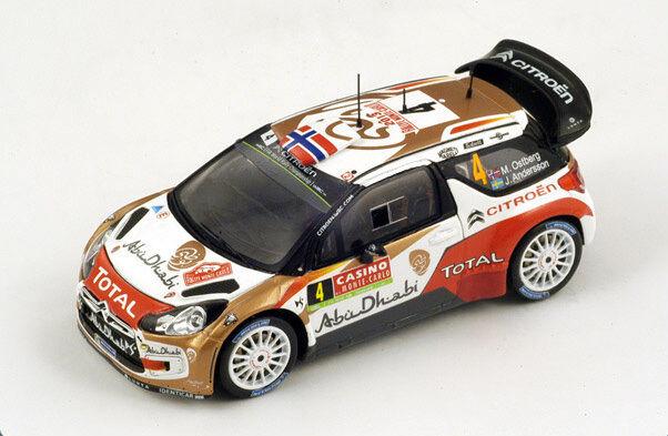 SPARK Citroen DS3 No. 4 4th Rally Monte Carlo 2014 M. Ostberg S3789 1 43