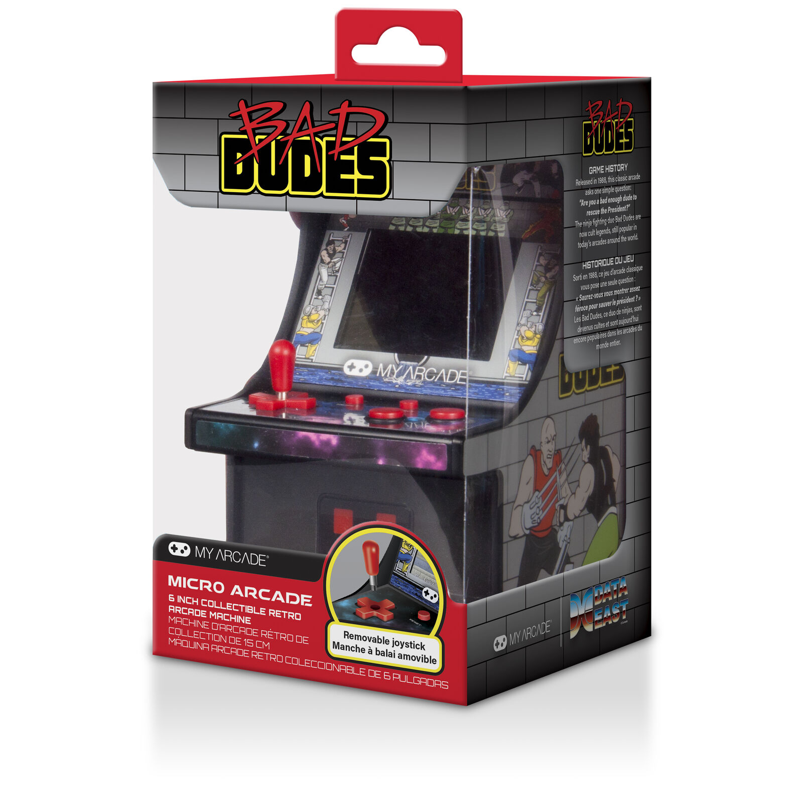 my arcade burgertime bad dudes data east retro micro arcade machine video game 610877605712 ebay. Black Bedroom Furniture Sets. Home Design Ideas