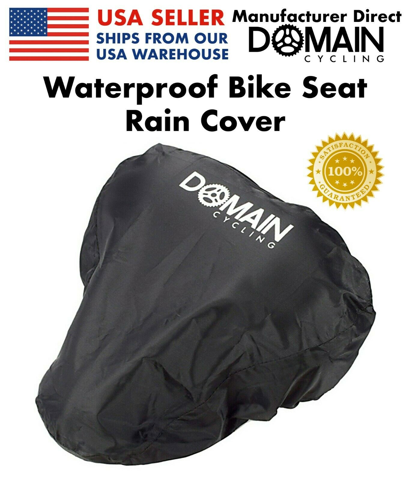 1pc Waterproof Bike Bicycle Seat Rain Cover Elastic Rain and Dust Resistant Gx
