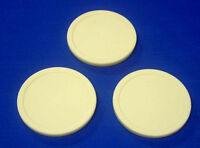 Set of 3 Large Commercial  Size 3 1/4 Inch  Beige Air Hockey Table Game Pucks