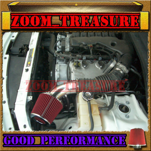BLACK RED 2005-10 DODGE CHARGER//CHALLENGER//MAGNUM//300 2.7L 3.5L V6 AIR INTAKE S