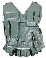 Digital Camo Tactical Vest Combat Assault Airsoft Army Molle Attachment Rig Top