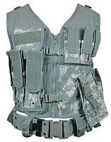 Digital Camo Tactical Vest Combat Assault Airsoft Army Molle Attachment Rig Top