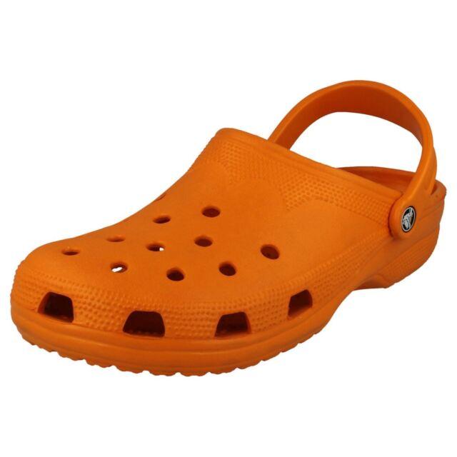 6e74440819f612 Crocs  beach  Ladies XS Bright Neon Orange Colour Slip on Rubber ...