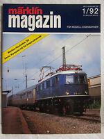 märklin magazin - Die Zeitschrift für Modell-Eisenbahner - Ausgabe 1/92