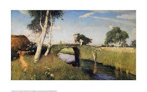 Otto-Modersohn-Sommer-am-Moorkanal-Poster-Kunstdruck-Bild-50x80cm