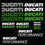 Ducati-Performance-adesivo-sticker-18x-moto-carro-armato-casco-sport-da-corsa