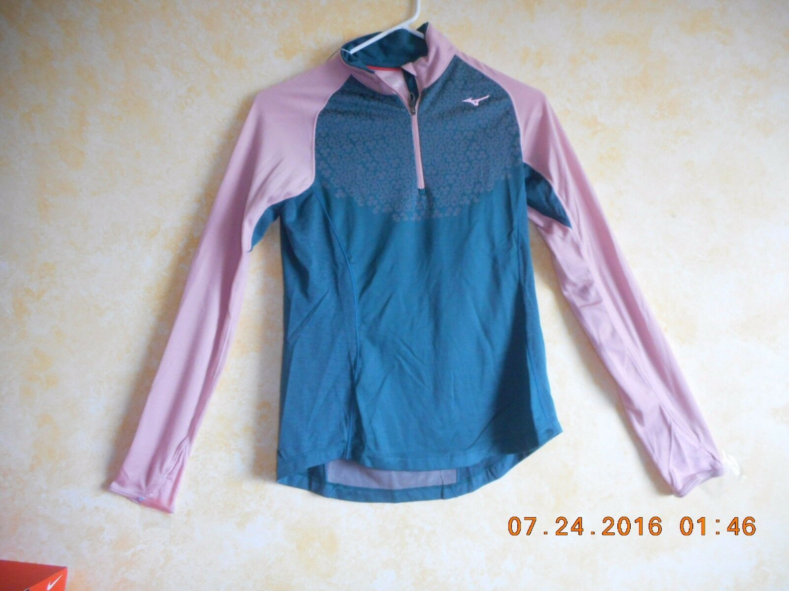 Mizuno Womens Long Sleeve Running Shirt Size SMALL